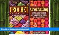 FAVORITE BOOK  Crochet: 2 in 1 Crochet for Beginners Crash Course Box Set: Book 1: Crochet + Book