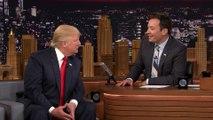 Jimmy Fallon décoiffe Donald Trump  en direct