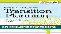 New Book Essentials of Transition Planning