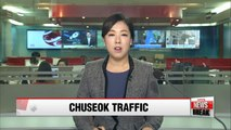 Expressways back to Seoul to be congested on third day of Chuseok holiday