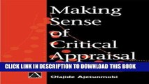 [PDF] Making Sense of Critical Appraisal (Hodder Arnold Publication) Full Online