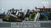 Chine : le typhon Meranti qui s'est abattu sur le pays fait au moins sept morts