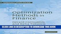 [PDF] Optimization Methods in Finance (Mathematics, Finance and Risk) Full Online