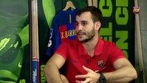 Entrevista a Xavi Barroso a l'Hora B de Barça TV abans de la Supercopa d'Espanya