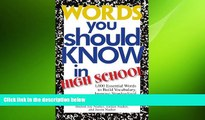 behold  Words You Should Know In High School: 1000 Essential Words To Build Vocabulary, Improve