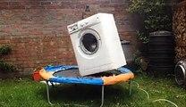 Machine à laver + briques + trampoline gros moment de délire!
