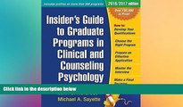 behold  Insider s Guide to Graduate Programs in Clinical and Counseling Psychology (Insider s