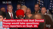 Trump ignores reporters' questions after birther statement