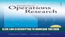 [PDF] Introduction to Operations Research with Access Card for Premium Content Popular Colection