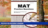 FAVORITE BOOK  MAT Practice Questions: MAT Practice Tests   Exam Review for the Miller Analogies