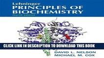 New Book Lehninger Principles of Biochemistry, Fourth Edition