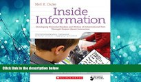 Online eBook Inside Information: Developing Powerful Readers and Writers of Informational Text