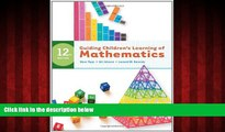 Choose Book Guiding Children s Learning of Mathematics, 12th Edition