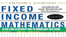 [PDF] Fixed Income Mathematics, 4E: Analytical   Statistical Techniques Full Colection