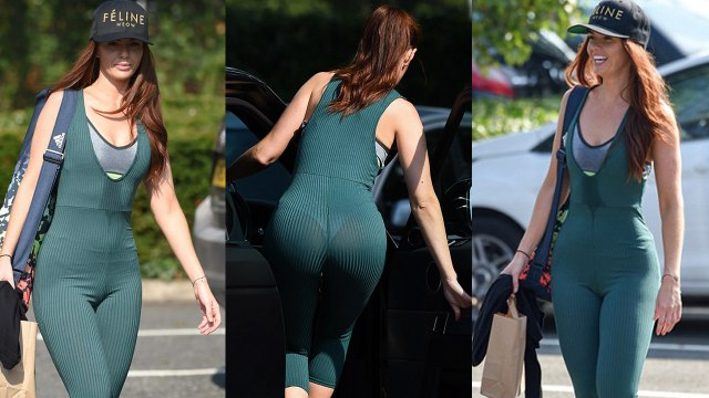 Jennifer Metcalfe Shows Off her Peachy Post*rior in form-Fitting Bodysuit