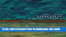 New Book Lincoln: A Very Short Introduction (Very Short Introductions)