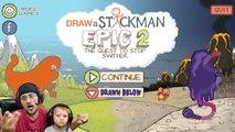 ELECTRIC SHOCK by POKEMON! DRAW A STICKMAN EPIC 2!  Part 3_ Rock Busters (FGTEEV Chapter 3 Fun!)