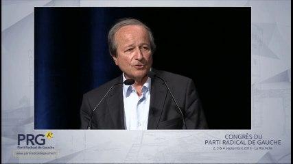 Congrès PRG 2016 - Discours de Roger Gérard Schwartzenberg