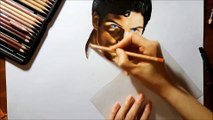 Speed Drawing of Christopher Reeve as Superman How to Draw Time Lapse Art Video Colored Pencil Illustration Artwork