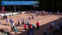 Deuxièmes parties de poules, 1/2, Sport Boules, France Quadrettes Vétérans, Cluses 2016