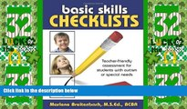 Big Deals  Basic Skills Checklists: Teacher-Friendly Assessment for Students with Autism or