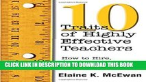 [PDF] Ten Traits of Highly Effective Teachers: How to Hire, Coach, and Mentor Successful Teachers