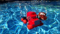 Pixar Cars Hydro Wheels Mater and Hydro Wheels Mack in the Pool