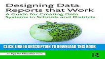 Collection Book Designing Data Reports that Work: A Guide for Creating Data Systems in Schools and