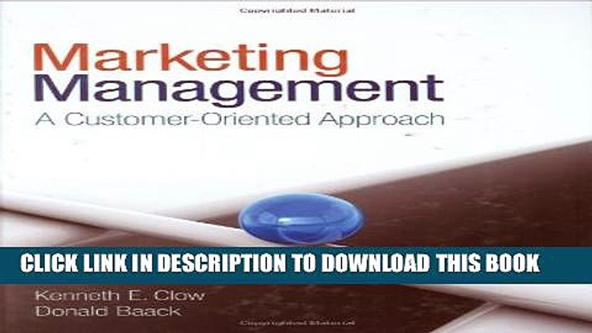 New Book Marketing Management: A Customer-Oriented Approach
