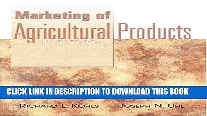 Collection Book Marketing of Agricultural Products (9th Edition)