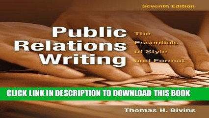 Collection Book Public Relations Writing: The Essentials of Style and Format