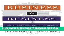 [PDF] Business is Business: Reality Checks for Family-Owned Companies Popular Online