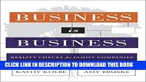 New Book Business is Business: Reality Checks for Family-Owned Companies