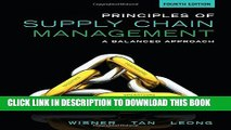 Collection Book Principles of Supply Chain Management: A Balanced Approach