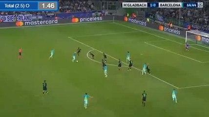 1-1 Arda Turan Goal HD - B. Monchengladbach 1-1 Barcelona 28.09.2016 HD