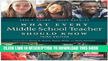 [PDF] What Every Middle School Teacher Should Know, Third Edition Popular Online