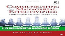 [PDF] Communicating for Managerial Effectiveness: Problems | Strategies | Solutions Popular