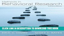 [PDF] Methods in Behavioral Research Full Online[PDF] Methods in Behavioral Research Popular
