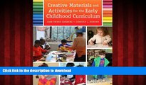 FAVORIT BOOK Creative Materials and Activities for the Early Childhood Curriculum READ PDF FILE