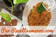 Entrée de Vermicelles & Carottes (VEGAN) - Moroccan Vermicelli & Carrot Entree - مرافقة الشعرية