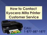 How to Contact Kyocera Mita Printer Customer Service #Dial: 1-877-587-1877