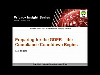 GDPR – The Compliance Countdown Begins | TRUSTe