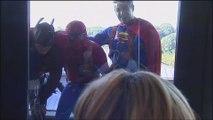 Des super-héros font une apparition remarquée à l'hôpital des enfants Reine Fabiola