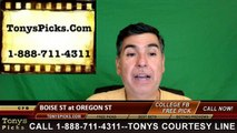 Oregon St Beavers vs. Boise St Broncos Free Pick Prediction NCAA College Football Odds Preview 9/24/2016