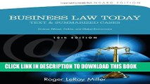 [PDF] Business Law Today, Standard: Text and Summarized Cases (Miller Business Law Today Family)