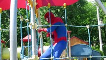 #Superheroes #Funny #Videos #2016 Playground Family Fun Slides Swings With Spiderman Elsa