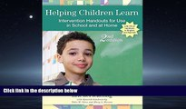 Popular Book Helping Children Learn: Intervention Handouts for Use in School and at Home, Second