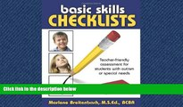 eBook Download Basic Skills Checklists: Teacher-Friendly Assessment for Students with Autism or