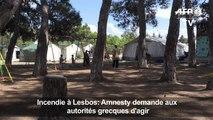 Incendie à Lesbos: Amnesty demande aux autorités grecques d'agir
