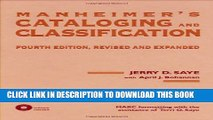 [PDF] Manheimer s Cataloging and Classification, Fourth Edition, Revised and Expanded Full Online